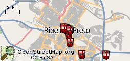 Hot�is no mapa
