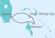 Itinerário do Cruzeiro  Bahamas - NCL Norwegian Cruise Line