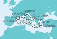 Itinerário do Cruzeiro  Itália, Grécia, Turquia, França, Espanha - NCL Norwegian Cruise Line