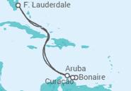 Itinerário do Cruzeiro  Sudeste do Caribe - Princess Cruises