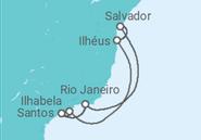 Itinerário do Cruzeiro  Natal pelo Brasil - Costa Cruzeiros