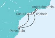 Itinerário do Cruzeiro  Mini Brasil - Costa Cruzeiros