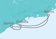 Itinerário do Cruzeiro  Mini Búzios e Ilhabela - Pullmantur