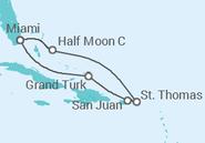Itinerário do Cruzeiro  Bahamas, Ilhas Virgens, Porto Rico - Carnival Cruise Line