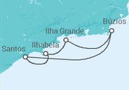 Itinerário do Cruzeiro  Búzios, Ilha Grande e Ilhabela - Royal Caribbean
