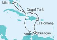 Itinerário do Cruzeiro  Antilhas - Carnival Cruise Line