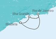 Itinerário do Cruzeiro  Ilhas - MSC Cruzeiros