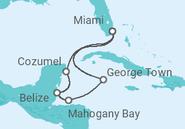 Itinerário do Cruzeiro  Caribe Ocidental - Carnival Cruise Line