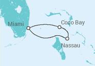 Itinerário do Cruzeiro  Bahamas - Royal Caribbean