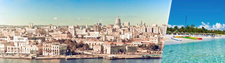 Cuba: Havana + Varadero, à sua escolha com estadia em praia