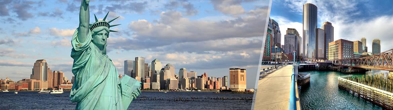 EUA: Nova York + Boston, ao seu gosto flexível em noites