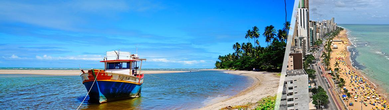 Pernambuco: Recife + Porto Galinhas, ao seu gosto com estadia em praia