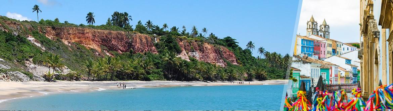 Bahia: Salvador + Porto Seguro, ao seu gosto com estadia em praia