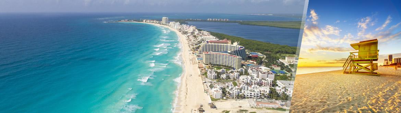 EUA e México: Miami + Cancún, à sua escolha com estadia na praia