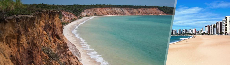 Ceará e Alagoas: Fortaleza + Maceió, à sua escolha com estadia em praia