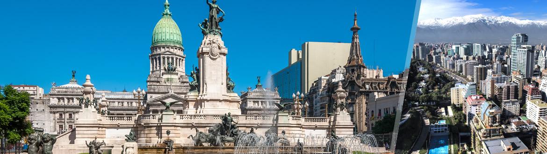 Argentina e Chile: Buenos Aires + Santiago, à sua escolha flexível em noites