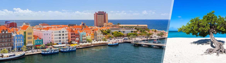Pequenas Antilhas: Aruba + Curaçao, à sua escolha com estadia em praia
