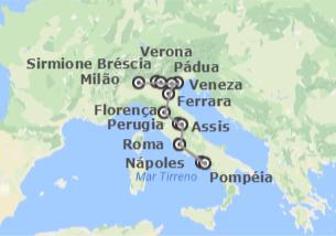 Itália: Milão, Lago de Garda, Veneza, Florença, Roma e Pompéia