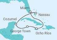 Itinerário do Cruzeiro   Jamaica, Ilhas Cayman, México, Bahamas - MSC Cruzeiros