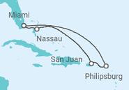 Itinerário do Cruzeiro  St. Maarten, Porto Rico, Bahamas - MSC Cruzeiros