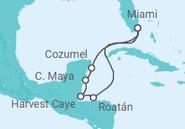 Itinerário do Cruzeiro  Estados Unidos, Honduras, México - NCL Norwegian Cruise Line