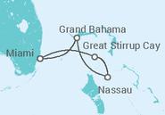 Itinerário do Cruzeiro  Estados Unidos, Bahamas - NCL Norwegian Cruise Line