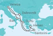 Itinerário do Cruzeiro  Itália, Grécia, Croácia - Costa Cruzeiros
