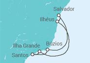 Itinerário do Cruzeiro  Costa Brasileira - MSC Cruzeiros
