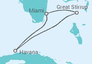 Itinerário do Cruzeiro  Cuba - NCL Norwegian Cruise Line