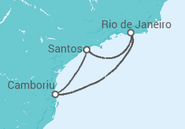 Itinerário do Cruzeiro  Camboriú e Rio - Pullmantur