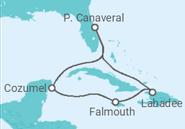Itinerário do Cruzeiro  Haiti, Jamaica e México - Royal Caribbean