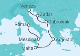 Itinerário do Cruzeiro  Itália, Malta, Grécia, Croácia, Eslovênia - Celebrity Cruises