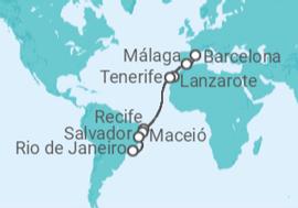 e024f306c2 Cruzeiro Do Rio de Janeiro à Barcelona a partir de R  3.039. Navio ...