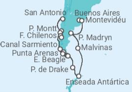 3157e31a6d Itinerário do Cruzeiro De Buenos Aires a San Antonio (Santiago de Chile) -  Holland