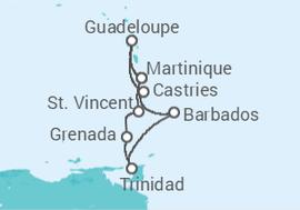 2424725d81 Itinerário do Cruzeiro Caribe Sul e Antilhas - com Voos - MSC Cruzeiros