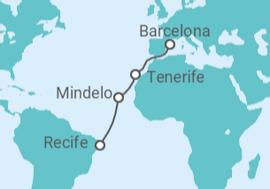 7c74fb942a Cruzeiro De Recife à Barcelona a partir de R  5.331. Navio Sovereign ...