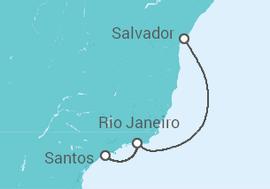 849d4b8870 Cruzeiro De Santos a Salvador a partir de R  2.674. Navio Sovereign ...