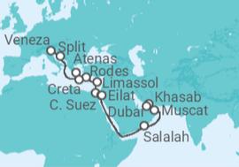 1ef354838c Cruzeiro De Veneza (Itália) a Dubai a partir de R  6.232. Navio MSC ...