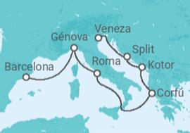 ecef5cdcf7 Itinerário do Cruzeiro Itália